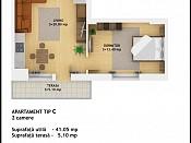 Apartament 2 camere - Ansamblu Rezidential Muncii