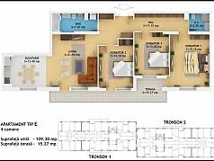 Apartament 4 camere - Ansamblu Rezidential Muncii