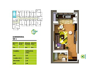 Garsoniera - Ansamblu Rezidential Sud Park Berceni