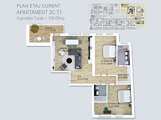 Apartament 3 camere - Luxury Domain